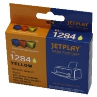 PTC EC-T1284, T01284, Yellow, (11ml), Ink Cartridge for Epson Stylus SX125, SX420W, SX425W, S22; Office BX305F, 305FW