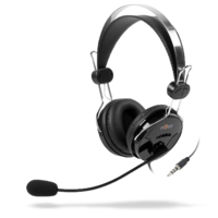 Buff Stereo Headset with Mic - 40mm - Adjustable Mic - Leatherette Ear Cushion - 210cm Cable Length - Ideal for Long Time Usage