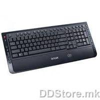 Delux DLK-5109U Multimedia Finger identify KB, grey/ black, USB, MK layout, DELUX logo, Color box packing