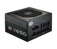 Cooler Master Vanguard V series 650W 80Plus Gold w/135mm Fan, Singal 12V rail, Full Modular, EU Cable,, RS650-AFBAG1-EU