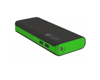 Power Bank Platinet Portable for Smartphone and Tablet 8000mAh Black/Green w/Led Light and Micro USB