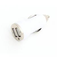 USB Universal Car Charger Omega 2.1A Dual Socket White