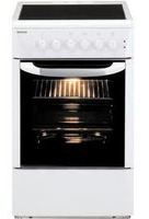 Sporet BEKO Model CE58000, Seven cooking option,four cooking zones, ooven volume , grill, glasceramic, W/H/D- 50/85/60 cm, Colr Wighte