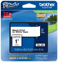 Brother P-touch label tape TZE251 white/black (24m x 8mm)