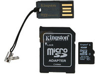 Mobility Kit 16GB Class10 USB, reader, SD Micro w/adapter Kingston
