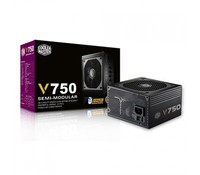 Cooler Master Vanguard V series 750W 80Plus Gold w/135mm Fan, Singal 12V rail, Full Modular, EU Cable, RS750-AFBAG1-EU