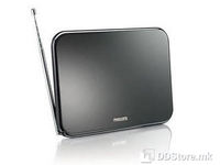 Philips SDV6224/12, Digital TV antenna, Indoor, Unique flat design, Wall-mountable, Superior noise filtering against signal loss, GSM filter prevents interference from mobile phone networks, Aerial Output: 75 ohm coaxial (IEC75), Tuner bands: UHF, VH