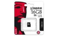 Secure Digital Micro Kingston 16GB SDHC cl10 UHS-I 45MB Read