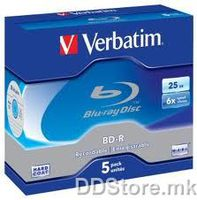 Verbatim Blu-ray BD-R,25Gb 5pack