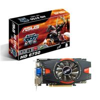 EAH6750/DI/1GD5  Radeon HD6750 PCIE PCIE 2.1, Memory 1GB, Memory Type DDR5 128 bit, Engine CLK (MHz) 700, Memory CLK (MHz) 4.6GHz, 2x DVI-I (HDCP support), Native HDMI, Power Cable, HDMI-to-DVI dongle, P/N 90-C1CQZ5-L0UAY0BZ