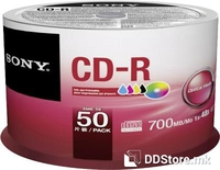 CD-R 700MB 52x Sony 50CDQ80PP 50pcs Ink Jet printable Spindle