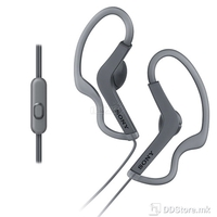 Earphones Sony MDR-AS210APB w/microphone splashproof design Black