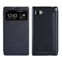Flip Case w/Window for Lenovo K910 Black