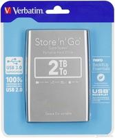 "Verbatim External HDD 2.5"" 2TB USB 3.0 Store n Go, Silver"