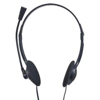 Avatec T43/SX087, Stereo headphone with  mic and volume control, Color: Black