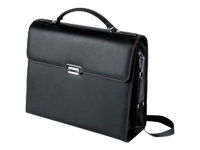 "SUPREME CASE COACH Black         up to 15.4"", Material: black leather, Slim business leather case with cushioned compartment for safe transport of the Notebook; classy design and high-quality locks; second compartment for mobile accessories and docum"