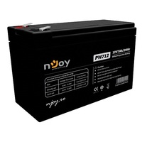 12V7Ah  Njoy Rechargeable Battery PW712 Standard use: 3-5 years Low self