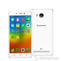 Lenovo A5600 White Color, 4G LTE, Dual SIM, 5.5 Inch, Resolution: 1280 x 720 (HD 720), 3G: WCDMA 850/900/1900/2100MHz, CPU: 1 GHz MTK6735 Quad core processor, GPU: Mali-T720, Internal Memory: 8GB, microSD, up to 32 GB, RAM: 1GB, OS: Android 5.1, Prim