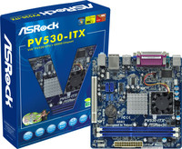 ®PV530-ITX,  VIA® PV530 Processor (1.8 GHz), Solid Capacitor for CPU power, Supports DDR3 / DDR2 memory, Integrated VIA® Chrome9 HD DX9 Graphics, DirectX 9.0, Max. shared memory 512MB, Supports ASRock Instant Boos, Instant Flash, OC Tuner, OC DNA,