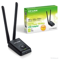 TP-Link TL-WN8200ND 300Mbps High Power Wireless USB Adapter, Realtek, 1T2R, 2.4GHz, 802.11n/g/b, High power up to 500mw, High receive sensitivity, WPS button, SoftAP, 2 5dBi detachable antennas, Compatible with 54Mbps Wireless G