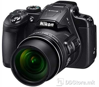 Nikon COOLPIX B700 Black, 20.3 Megapixels, 60x optical Zoom-NIKKOR glass lens, Bluetooth, Wi-Fi, Lens-shift VR,  Electronic viewfinder, 0.5 cm (0.2-in.) approx. 201K-dot equivalent LCD with the diopter adjustment function (-4 to +4 m-1), Monitor Size
