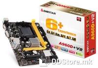 MB Biostar A960D+ V2 (AMD 890GX / SB710), HD4290, DVI, AM3+, 2xDDR3 1333, 4xSATA2, RAID(0,1,10,) 1 x PCI-E x16, 1 x PCI-E x1, 1 x PCI, 1 x ATA133, 8 x USB 2.0, GLAN, 6CH Audio, ATX, 125W CPU