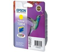 PTC EC-T804, T0804, Yellow, (12ml), Ink Cartridge for Epson Stylus Photo R265, R285, R360; RX 560, RX585, RX640, RX685; PX800FW