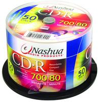 Nashua CD-R 52x, A Grade, 700MB, 80mins, 50pcs bulk