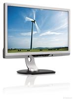 """Used Monitor Philips 221P3L A Clsaa 21.5"""" VGA DVI 1920x1080 Full HD 16:9 Silver/Black TCO 5.1 Stereo Speakers + USB Hub DisplayPort"""