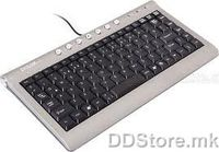 Delux DLK-5300U Slim Multimedia Keyboard, Black/Grey, USB port, US layout, DELUX logo, colour box packing