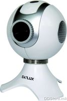 DLV-B30 350K pixels webcam, usb, white/black, with special video function, gift box packing, Delux logo