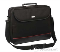 """Modecom Mark Laptop Bag 17"""", Color: Black, Material: Nylon, 1 main laptop compartment with zipper and inside, 1 big pocket for mouse and power adapter, front pocket, trolley bag strap at the back of the bag, Dimension: 41 x 31,5 x 5,5 cm"""