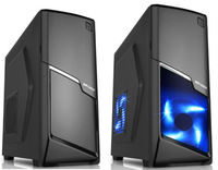 ATX Midi Tower Case SAMA Inpower P49 Gaming Black w/o PSU