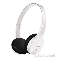 Headphones Philips Bluetooth w/Microphone White