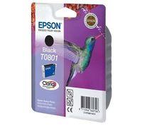 PTC EC-T801, T0801, Black, (12ml), Ink Cartridge for Epson Stylus Photo R265, R285, R360; RX 560, RX585, RX640, RX685; PX800FW