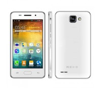 "H Mobile A5, Smartphone White, included Protective case, 4"" WVGA capacitive touch screen, 850x480 resolution, Shell Material Plastic, Dual SIM, Micro SD, 3G: WCDMA2100MHz, MTK6572W 1.2GHz Cortex A7 dual core,  GPU: Mali 400, 512MB RAM, 4GB ROM, Dual"