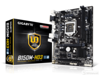 GIGABYTE MB 6th Gen i7/i5/i3/Pen/Cele, LGA1151, B150M, 2xDDR4, max. 32GB, IntgGraphCPU, 1PCI-ex16 @16, 2PCI-E x1, 1PCI, 1xM.2. PCIe connector, 6xSATA 6Gb/s, USB 3.1, 6xUSB3, 6xUSB2, Realtek® ALC887, Realtek® GbE, D-Sub, DVI-D, HDMI