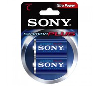 SONY AM2B2D, 2x 1.5V C Stamina plus alkaline battery Blister