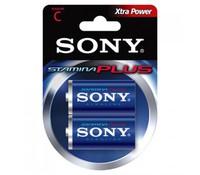 SONY AM2B2D, 2x 1.5V C Stamina plus alkaline battery Blister