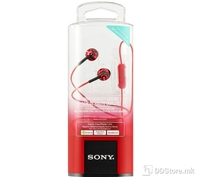 Earphones Sony MDR-EX110APR w/microphone Red