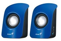 Genius SP-U115 speakers, Blue, 1.5W, USB power