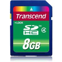 Transcend SD 8GB HC Class 4, Format SDHC (SD2.0), Kapacitet  8192 MB
