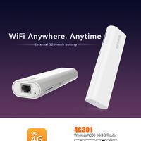 Tenda Wireless N 3G/4G Router 300Mbps 4G300 w/2600mAh Power Bank