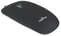 Optical Silhouette mouse, USB, 1000dpi, Black, Ultra slim shape