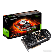 GigaByte PCI-3.0 GeForce GTX 1070 XTREME GAMING, Super OC edition 8GB, 256bit, GDDR5, WINDFORCE X3 Stack Fan, HDMI(Gold Plated)x3/DP(Gold Plated)x3/Dual-Link DVI-D(thin)x1