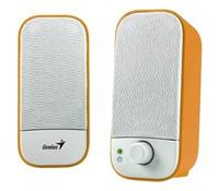 Genius SP-A120 Multimedia Stereo Speakers, Orange white color