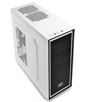 DeepCool ATX Midi Tower Case Deepcool Tesseract BF White w/USB 3.0, USB 2.0, 1x Fan