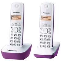 Telephone Panasonic KX-TG1612 with 2 Headsets White