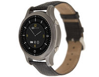 "GOCLEVER CHRONOS PI SmartWatch Black Leather 1.54"" w/SOS/BT/Touch/Remote Cam/Fitness"