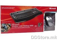 Keyboard Microsoft wireless laser desktop 6000